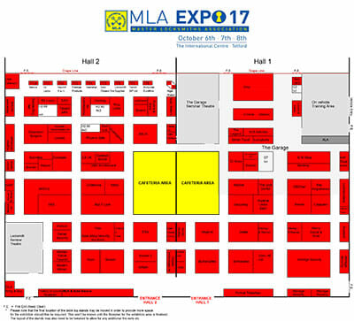 MLA Expo 2017 floor plan image