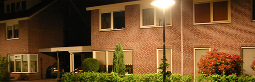 House at night image