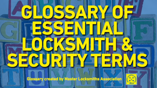 Locksmith Security Glossary Terms Website image