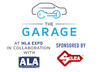 The Garage is a Auto Locksmith Exhibition Area at MLA Expo
