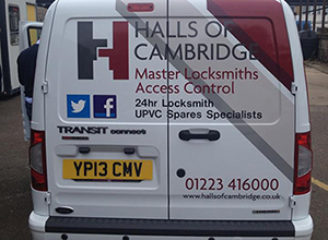 Halls of Cambridge Locksmith Van image