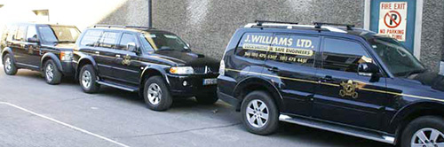 J Williams Dublin Locksmith Vans