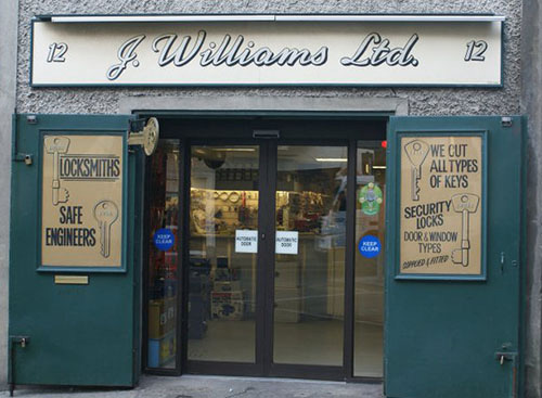 J Williams Ltd Locksmith Shop in dublin