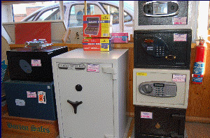 Security Safes in Locksmith Shop
