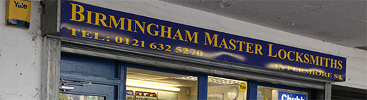 Birmingham Master Locksmiths Shop