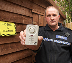 Northumbria Police with Shed Alarm image