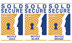 Sold Secure 2014 Bicycle Gold, Silver and Bronze logos