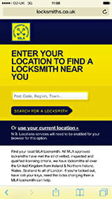 Enter your location to find a locksmith image