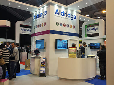 Aldridge Security MLA Expo 2015 exhibitor stand image
