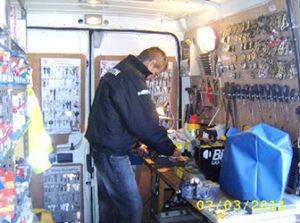 Inside Locksmith Van - Actfast Locksmiths