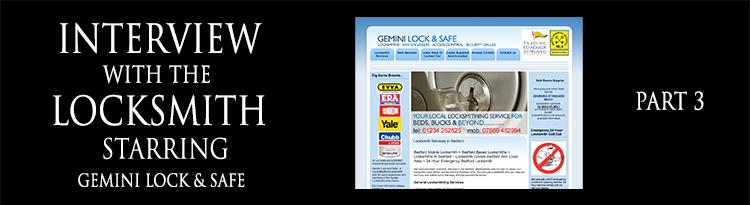 Interview with a Locksmith – Roger Barratt of Gemini Lock &Safe