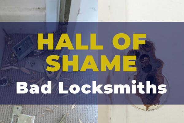 Hall of Shame – Examples of Shocking LocksmithWork