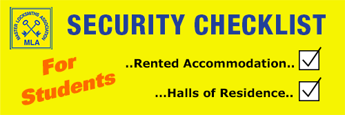 Student Security Checklist