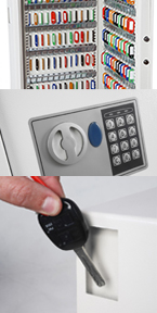 Image of a security key cabinet