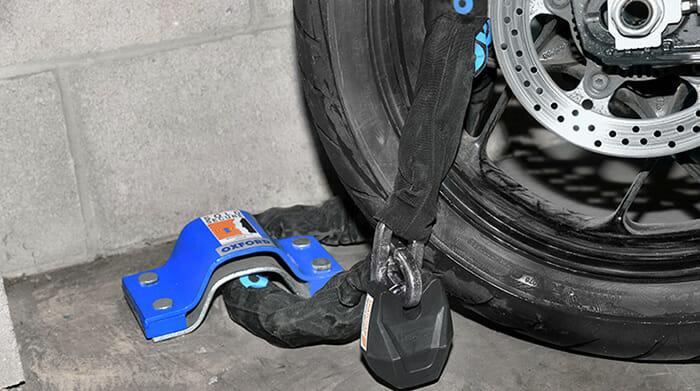 MOTORCYCLE MOTORBIKE BIKE SECURITY CHAIN LOCK