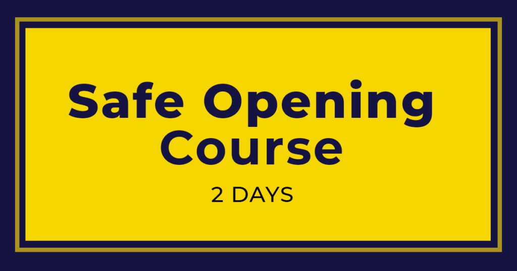 Safe Opening Course | Training Courses | Master Locksmiths Association
