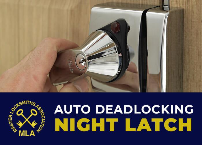 "Avocet ABS Deadlocking night latch 40mm Backset /""YALE QUALITY/"" Grey Door Lock"