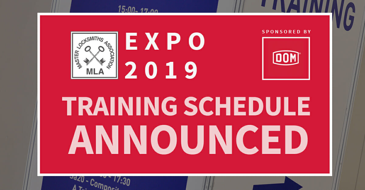 Training Programme Announced for MLA Expo 2019 (inc Auto Training)